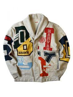 KAPITAL - Shawl Collar 'Ivy League' Cardigan - K1501LC82 ECRU - H. Lorenzo