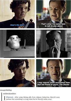 Sherlock Fandom, Sherlock Holmes, Doctor Who, Mrs Hudson, Fandom Crossover, Never Stop Dreaming, Comic, Tumblr, Johnlock