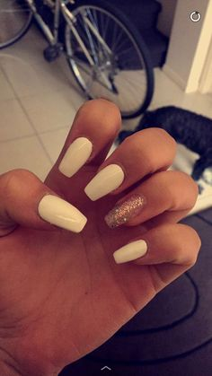 White acrylics from Beauty Platform