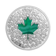 Pièce de 1 oz en argent fin - Impression Feuille d'érable