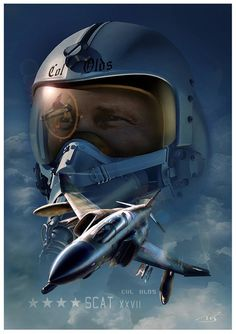 Jet Fighter Pilot, Air Fighter, Fighter Jets, Navy Aircraft, Military Aircraft, Robin Olds, Iran Air, F4 Phantom, Airplane Art