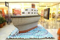 food can sculpture