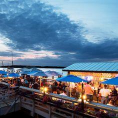 Hudson's Seafood House On the Docks - Hilton Head Island, SC, United States. Hilton Head Beach, Hilton Head Island, Vacation Spots, Beach Vacations, Family Vacations, Weekend Trips, Day Trip, Seafood House, Adventure Is Out There