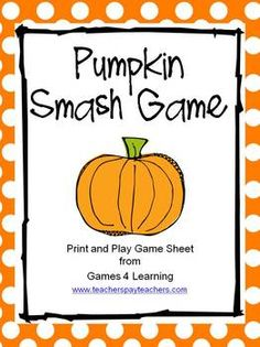 Pumpkin Smash Game - Fun Halloween FREEBIE