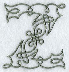 Celtic Knotwork Letter Z - 4 Inch