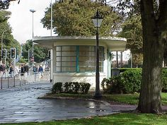 Brighton, on England's south coast has, or at least had in 2000, these fabulous deco bus shelters.