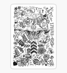 'One Direction tattoos' Spiral Notebook by tashalmighty One Direction Tattoos, One Direction Merch, One Direction Drawings, I Love One Direction, Larry Stylinson, Love Of My Life, My Love, Love Songs Lyrics, Diy