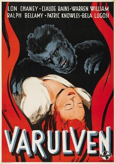 Foreign Horror Movie Posters We Love (The Wolf Man 1941)
