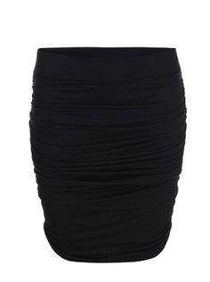 ONLY - Černá nařasená sukně  Gusta - 1