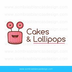 OOAK Premade Logo Design - Cakes and Lollipops - Perfect for a baked goods shop or a bakery supplies brand