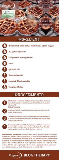 Ricetta per Crostatine alla Nutella, con farina di grano tenero macinata a pietra Ruggeri. http://www.ruggerishop.it http://www.antroalchimista.com