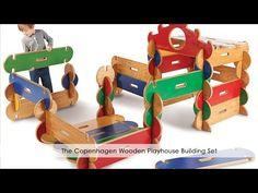 El juego de construcción Copenhagen Wooden Playhouse - Hammacher Schlemmer