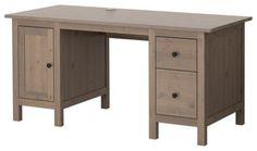 HEMNES Desk, Gray-Brown traditional desks