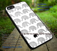 Black n White Pattern Baby Elephant iPhone 6s 6 6s  6plus Cases Samsung Galaxy…
