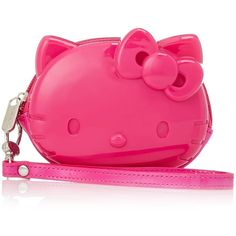 Hello Kitty Pink Molded Coin Purse, Multi, One Size ($20) ❤ liked on Polyvore featuring bags, wallets, hello kitty, coin purse, change purse, coin pouch wallet and hello kitty wallet