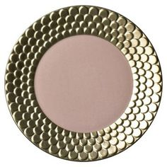 Check out this item at One Kings Lane! Dessert Plate w/ 24-Kt Gold, Pink