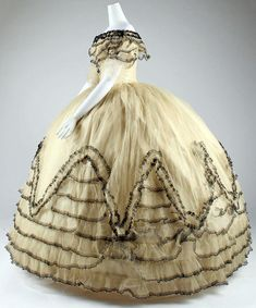 Ball Gown, ca. 1854 MMA Collection