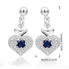 925 Sterling Silver Earrings Trendy Fashion Jewelry Earrings For Women Eh091