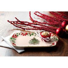 Spode 1577749 Christmas Tree 2014 Annual Dessert Tray