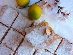 Lemon curd squares - Receta Postre : Cuadraditos de crema de limón por La cocina de babel