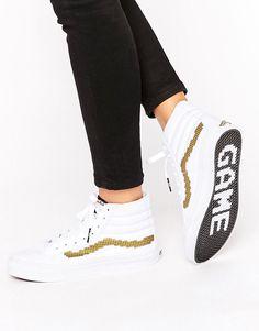 Zapatillas hi-top con raya dorada en el lateral Nintendo Sk8 de Vans