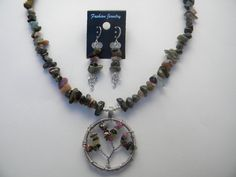 Tourmaline Necklace Tree Of Life Necklace by AlwaysCrafty77, $45.00