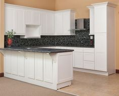 Frosted White Shaker Kitchen Cabinets - RTA Kitchen Cabinets