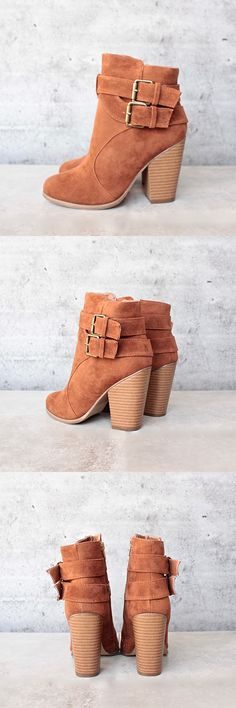 'trolley' double buckle bootie - more colors - shophearts - 1