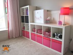 Horizontal Shelving Unit for Bedroom Wall