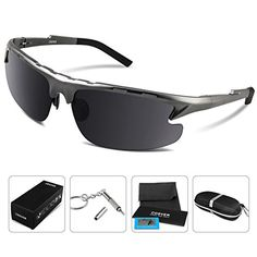COSVER 8123 Fashion Polarized Sport Sunglasses for Mens Women Driving Running Fishing Golf Aviator Unbreakable  Metal Aluminummagnesium Alloy Sun Glasses Gray Gray ** Check this awesome product by going to the link at the image. (Note:Amazon affiliate link)