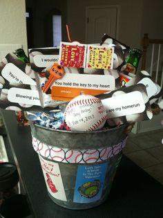 Baseball Gift Basket | ♢Teen Boys Gift Baskets♢ | Pinterest ...