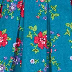 Lana Teal Floral Prom Dress | Vintage Inspired Fashion - Lindy Bop
