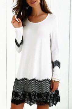 $19.13 Lace Splicing Comfy Dress