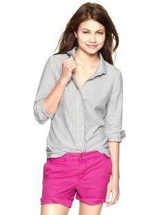 Gap | Perfect oxford pleat-placket shirt