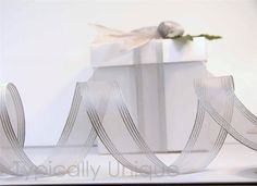 Silver wire edged ribbon 'Serenity' http://stores.ebay.co.uk/Typically-Unique-Flowers-and-Gifts?_rdc=1