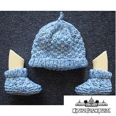 Puffin Baby Hat and Booties Knitted Babies' Hat FREE Pattern by Crystal Palace Yarns