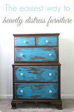 video anleitung ganz einfach m bel mit kreidefarbe streichen holzm bel lackieren und shabby. Black Bedroom Furniture Sets. Home Design Ideas
