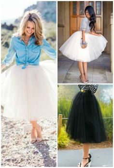 Serendipity Tulle Skirt: Engagement Photos| Bridal Shower Outfit| Summer Wedding Outfit| As featured in StylesWeekly!  Bring out your inner fashionista with the Serendipity Tulle Skirt.  This gorgeous skirt offers up 5 layers of tulle and falls right around the knee.  TheChicFind.com