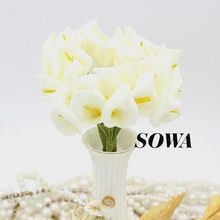 Free Shipping 2.5cm Head Ivory/red Color Handmade PE Foam Calla Lily Flower Wedding Bouquet Artificial Decoration(72pcs/lot)(China (Mainland))