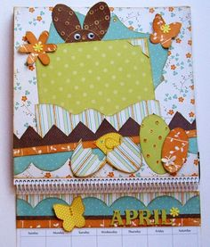 april calendar scrapbook pages   April Calendar