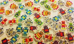 12 ROBOT foam beads by KandiStash on Etsy, $2.00