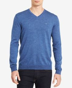 Calvin Klein Men's Merino V-Neck Sweater - Tan/Beige 2XL