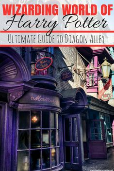 A complete guide to Harry Potter's Diagon Alley at Universal Studios - Orlando. This guide will help you plan your Orlando Vacation and ensure you see everything at Harry Potter World and the Harry Potter theme park #harrypotter #universalstudios // Hey There, Chelsie