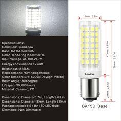 SQUARE 12 HIGH INTENSITY LED W//CHANGEABLE SINGLE POST BAYONET BASE//T10 BASE