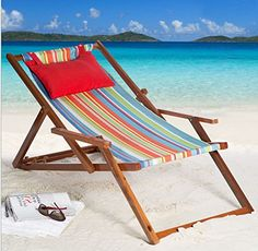 Cabana Beach Chair Reclining Lounge Chair With Coordinati... Http://www