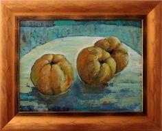 Ladislav Majoroši - Jesenné bomby - dule, akryl na lepenke, 45 x 60 cm, 2015