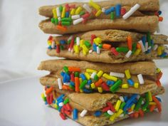 Peanut Butter Graham Sandwiches with Sprinkles