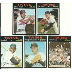 1971 Vintage Different TWINS TOPPS 11 card lot. No dups dupes 5 rookie cards Listing in the 1970-1979,Lots,MLB,Baseball,Sports Cards,Sport Memorabilia & Cards Category on eBid United States   147730058