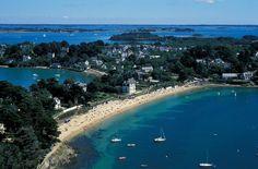 Vue aérienne de l'île aux Moines dans le Golfe du Morbihan, Bretagne.