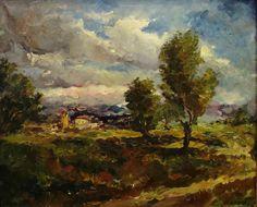 "Jan W Zadwadski ""Dramatic Skies"" 18x22 Oil on Canvas"